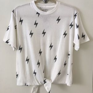 Mighty Fine Lightning Bolt Graphic Tee Shirt NWT
